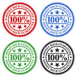 Money Back Guarantee Stamps. A set of four money back guarantee stamps in different colors Stock Photography