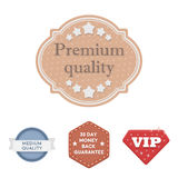 Money back guarantee, vip, medium quality,premium quality.Label,set collection icons in cartoon style vector symbol Royalty Free Stock Photography