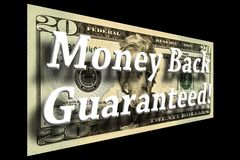 Money Back Guaranteed Concept stock photos