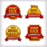 Money back guaranteed label Royalty Free Stock Photo