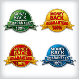 Money back guaranteed label Royalty Free Stock Image