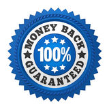 Money Back Guaranteed Label Isolated. On white background. 3D render Royalty Free Stock Photo