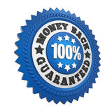 Money Back Guaranteed Label Isolated Royalty Free Stock Image
