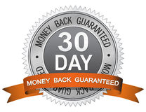 Money Back Guaranteed Sign. 30 Day Money Back Guaranteed Sign Stock Photos