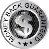Money Back Guaranteed Silver Stock Photo