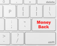 Money back. Keyboard with Money back text on button, raster, 3d rendering Royalty Free Stock Image