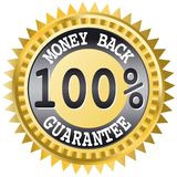 Money back label. This image is a vector illustration Stock Image