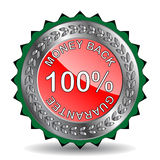 Money back label. For promotion Royalty Free Stock Images