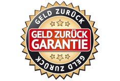 Money back label. A german money back label (Geld zurück Garantie Stock Image