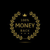 Money back label Royalty Free Stock Photos