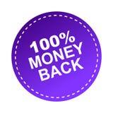 100 money back label. Sticker - editable vector illustration on isolated white background Royalty Free Illustration