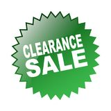 Clearance sale label. Label sticker - editable vector illustration on isolated white background Royalty Free Stock Image