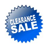 Clearance sale. Label sticker - editable vector illustration on isolated white background Royalty Free Stock Photos
