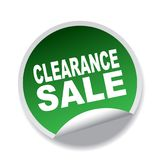 Clearance sale. Label sticker - editable vector illustration on isolated white background Royalty Free Stock Photo