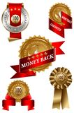 Money Back Label Set Royalty Free Stock Photography
