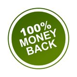 100 money back label. Sticker - editable vector illustration on isolated white background vector illustration