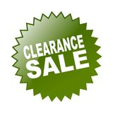 Clearance sale. Label sticker - editable vector illustration on isolated white background Stock Image