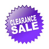 Clearance sale. Label sticker - editable vector illustration on isolated white background Stock Images