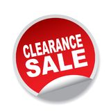Clearance sale. Label sticker - editable vector illustration on isolated white background Stock Photo
