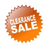 Clearance sale. Label sticker - editable vector illustration on isolated white background Stock Photography
