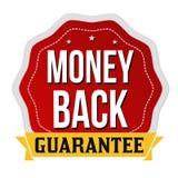 Money back label or sticker. On white background, vector illustration royalty free illustration