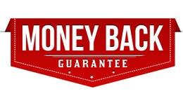 Money back label or sticker. On white background, vector illustration vector illustration