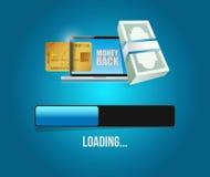 Money back loading bar illustration Stock Photos