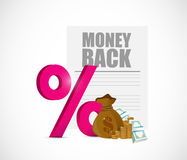 Money back and percentage symbol Stock Photo