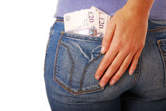 Money in back pocket Stock Image