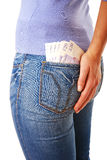 Money in back pocket Royalty Free Stock Images