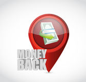 Money back pointer sign illustration Royalty Free Stock Image