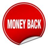 Money back sticker. Money back round sticker isolated on wite background. money back royalty free illustration