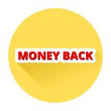 Money Back with shadow. Simple Money Back button with shadow Stock Images
