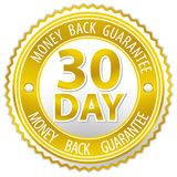 Money back sign Stock Photos