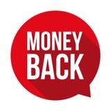 Money back sign button. Vector Royalty Free Stock Photos