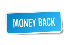 Money back sticker. Money back square sticker isolated on white background. money back vector illustration