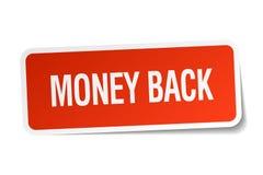 Money back sticker. Money back square sticker isolated on white background. money back stock illustration