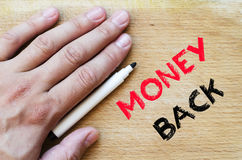 Money back text concept Stock Images