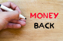 Money back text concept Royalty Free Stock Image