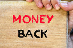 Money back text concept Royalty Free Stock Photography