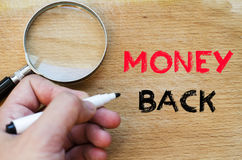 Money back text concept Stock Image