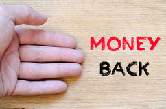 Money back text concept Stock Photography