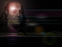 Money background. Abstract- president of 100 USD banknote Franklin in background Stock Images