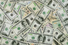 Money background. Abstract money background with hundred dollar bills Royalty Free Stock Photography