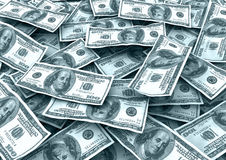 Money background. Many 100 us currency notes royalty free illustration
