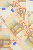 Money background. Money collage background made of 50 euro banknotes Stock Images