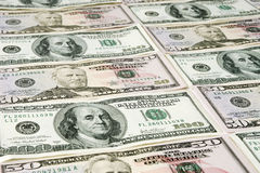 Money background. US dollar bills Stock Images