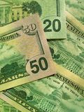 Money background. From new dollars usa Royalty Free Stock Photography