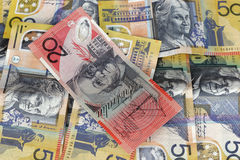 Money background. Australian money wallpaper stock photo