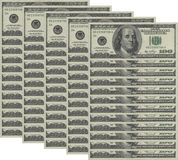 Money background. Hundred dollars greenback Stock Image